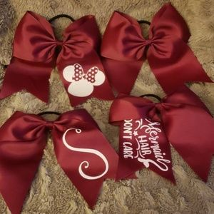 Cheer uniform bow with decals